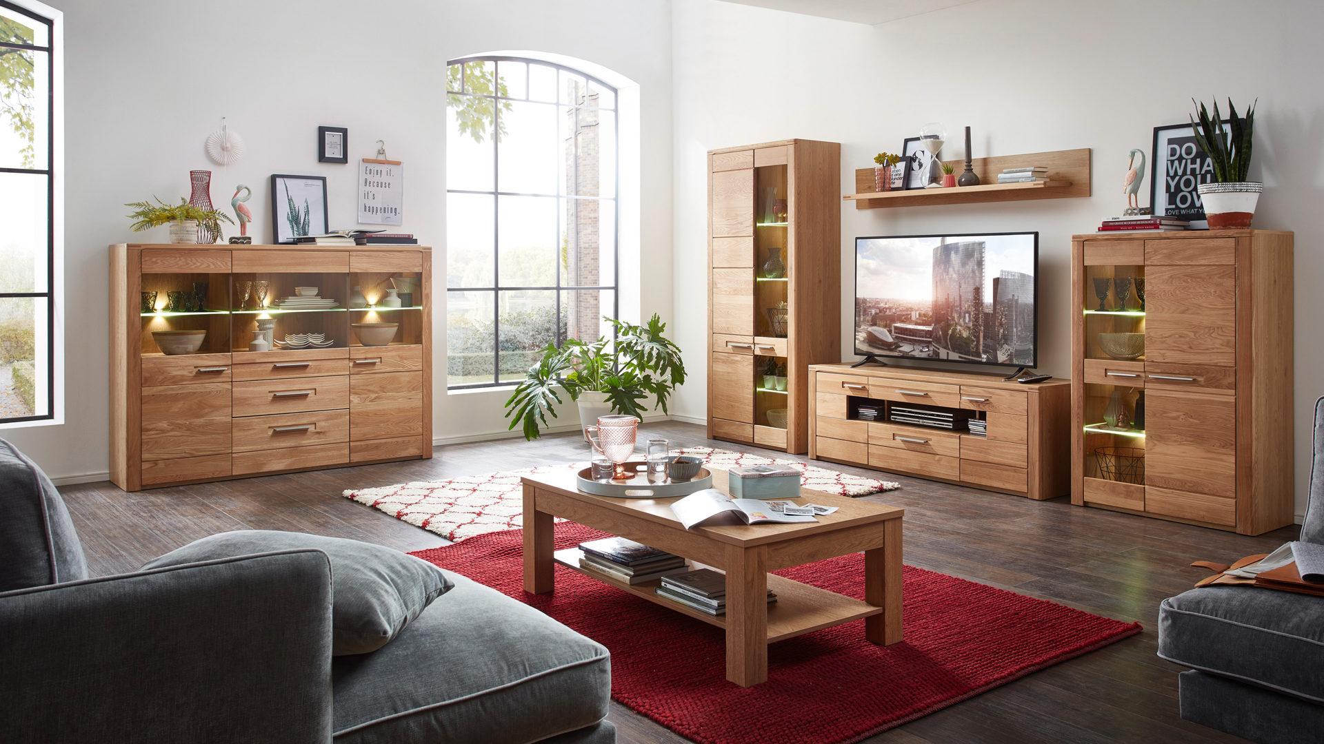 Wohnzimmermöbel wohnkauf zeller weilburg kawoo vitrine nature two als