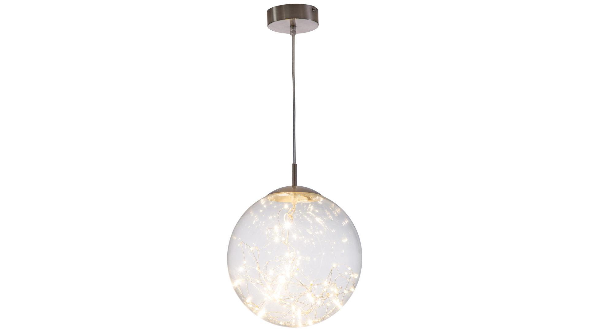 ... Möbel A Z, Lampen + Leuchten, Pendelleuchten + Kronleuchter,  LED Pendelleuchte, LED Pendelleuchte Lights, Nickel U0026 Klarglas U2013 Durchmesser  Ca. 30 Cm