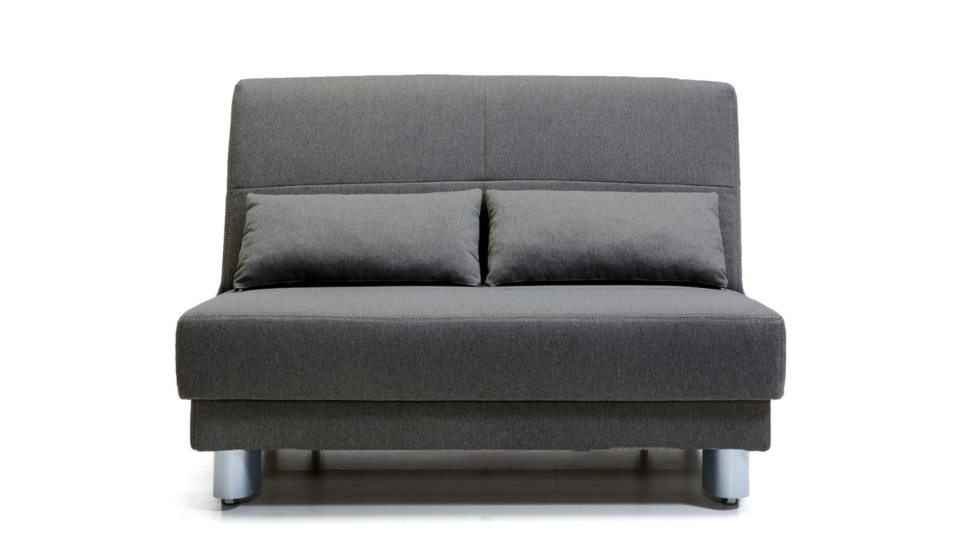 Aus Stoff Dunkelgrauer Bezug 22 33 Durban 9410 Alufarbene Metallfüße Breite Ca 120 Cm Sedaro Design In Grau Falt Schlafsofa